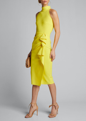 Chiara Boni Sleeveless Halter Ruched Dress