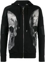 Philipp Plein faux leather-trimmed sweatshirt - men - Cotton/Polyester/Polyurethane - M