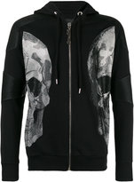 Philipp Plein faux leather-trimmed sweatshirt