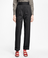 Brooks Brothers High-Waisted Wool Trousers