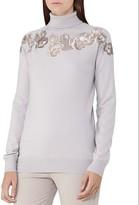 Reiss Alo Floral Lace Merino Wool Sweater