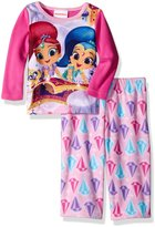 Nickelodeon Girls' Shimmer and Shine 2-Piece Fleece Pajama Set, Pink