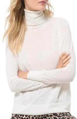 MICHAEL Michael Kors Semi-Sheer Turtleneck Sweater