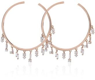 Suzanne Kalan Diamond Hoop Earrings
