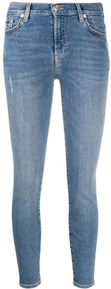 7 For All Mankind High-Waisted Skinny Jeans