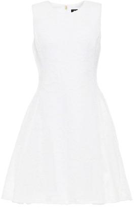 DKNY Embroidered Mesh Mini Dress