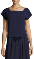 Eileen Fisher Square-Neck Box Top