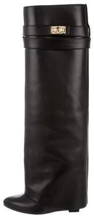 Givenchy Shark-Lock Wedge Boots