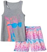 SO Girls 4-16 SO® Giraffe Tank & Shorts Pajama Set