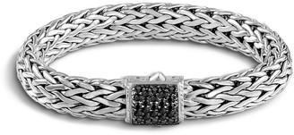 John Hardy Silver Classic Chain Bracelet w/ Pave Clasp