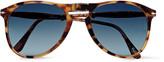 Persol - Aviator-style Tortoiseshell Acetate Folding Sunglasses