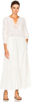 Sea Embroidered Long Sleeve Dress