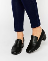 Park Lane High Vamp Leather Loafers
