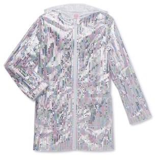 Wonder Nation Girls Sequin Rain Jacket (Big Girls, Little Girls, Plus)
