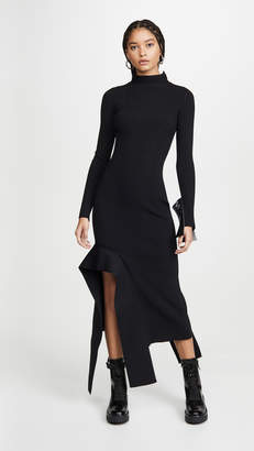 Off-White Off White Knit Long Sleeve Dress