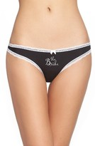 Betsey Johnson Women's Bridal Thong