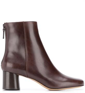 Sandro Block Heel Ankle Boots