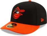 New Era Men's Black/Orange Baltimore Orioles Turn Back the Clock Throwback Low Profile 59FIFTY Fitted Hat