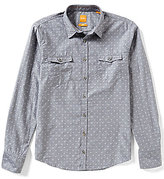 HUGO BOSS BOSS Orange Edoslime Dobby Pattern Long-Sleeve Woven Shirt