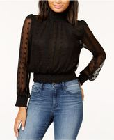 Astr Shiloh Embroidered Smocked Top