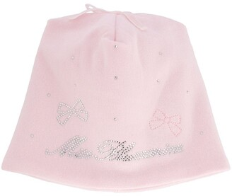 Miss Blumarine Rhinestone-Logo Bucket Hat