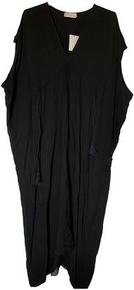 Hatch Black Cotton Dress for Women