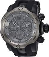 Invicta Men's 'Venom' Quartz Stainless Steel and Silicone Casual Watch, Color:Black (Model: 24260)