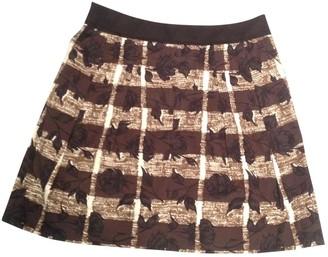 Kenzo Brown Cotton Skirt for Women