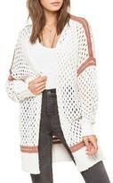 Amuse Society Women's Malita Knit Mesh Cardigan
