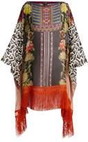 Etro Kesa paisley and aztec-print silk poncho