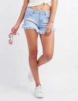 Charlotte Russe Frayed Hem Denim Shorts