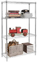 HOME Heavy Duty 4 Tier Metal Shelving Unit - Chrome Plated
