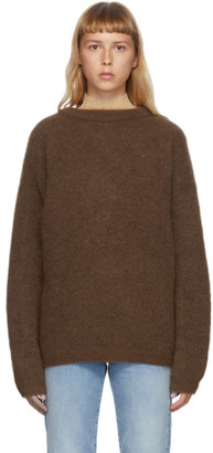 Acne Studios Brown Wool and Mohair Oversized Sweater