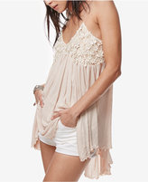 Free People Mad About You Lace-Contrast Camisole