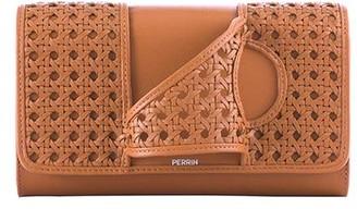 Perrin Paris L'Asymetrique Cutout Leather Cluch