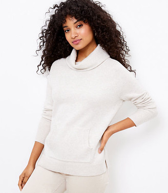 LOFT Cowl Neck Pocket Sweater