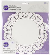 Wilton Greaseproof Doilies, 8-Inch, Circle, 16-Pack