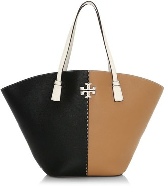 Tory Burch McGraw Colorblock Leather Shopper