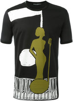 Dolce & Gabbana jazz singer print T-shirt - men - Cotton - 44