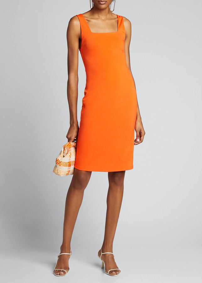 Alice + Olivia Addie Square-Neck Dress
