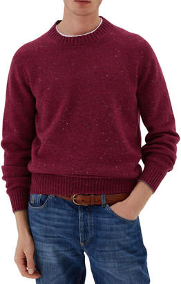 Brunello Cucinelli Men's Wool-Blend Donegal Sweater