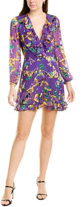 Saloni Jodie Silk-Blend Mini Dress