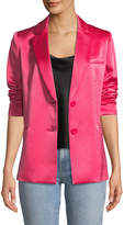 Alice + Olivia Bergen One-Button Relaxed Blazer
