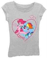 Freeze Gray My Little Pony Pinkie Pie & Rainbow Dash Hug Tee - Girls