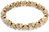 Betsey Johnson Gold-Tone Crystal Heart Stretch Bracelet