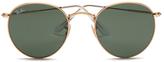 Rayban Round Metal Sunglasses - Arista/crystal Green - 50mm
