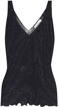 Chloã© Ribbed-knit stretch-cotton tank top