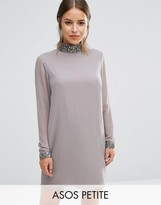 Asos Sequin Neck Trim Shift Dress
