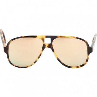 Acne Studios Brown Plastic Sunglasses