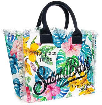 MC2 Saint Barth Tropical Print Canvas Bag